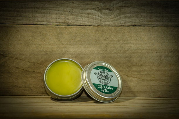 1oz CBD Healing Salve Open View