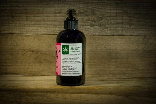 8oz CBD Massage Oil Side R
