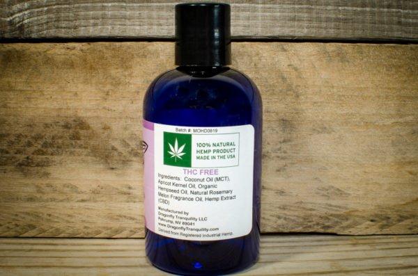 4oz HD CBD Massage Oil Right